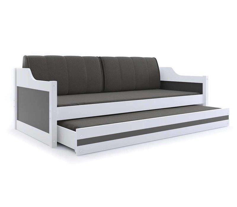 Slaapbank Daniel 2-wit, incl. bedlade met matras.