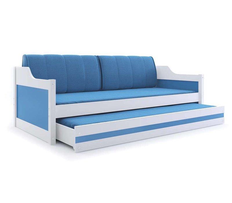 Slaapbank Daniel 3-wit, incl. bedlade met matras.