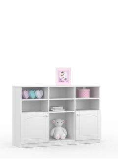 Boekenkast Bianco Fiori 90x135