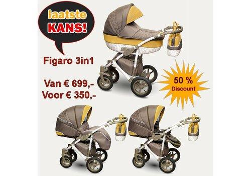 3in1 Combi kinderwagen Figaro met 50% korting