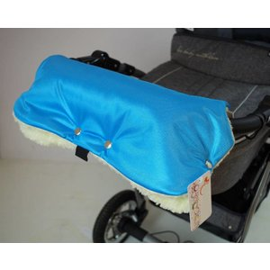 Universele handschoenen voor de kinderwagen - blauw