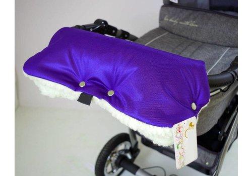 Universele handschoenen voor de kinderwagen - violet