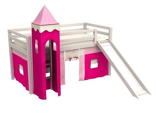 Halfhoogslaper Gabriel incl. toren, tent, glijbaan en matras
