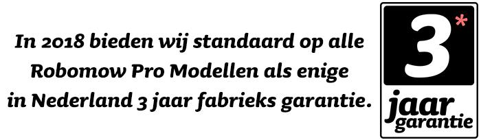 Omnimatic 3 jaar garantie op robomow pro enige in nederland