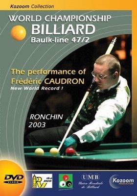 Afbeelding van Boeken, drukwerk en dvd Biljart DVD Ronchin 2003 wereldkampioenschap kader 47/2
