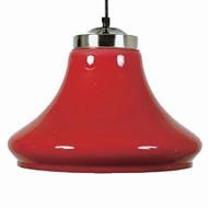 Verlichting Lamp clock model transparent Red