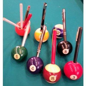 Billiard ball pen holder