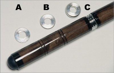 Afbeelding van Keu onderdelen Biljart keu Gewichtring. Onder universeel