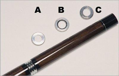 Afbeelding van Keu onderdelen Biljart keu Gewichtring. Boven universeel