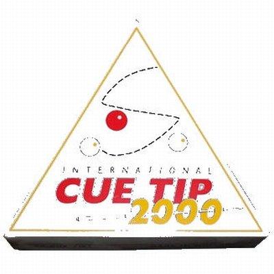 Afbeelding van Pomeransen en doppen Biljart keu pomerans Cue Tip 2000. Middel hard