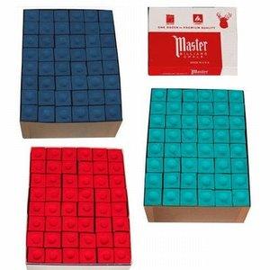 Master billiard chalk 144 pieces Blue