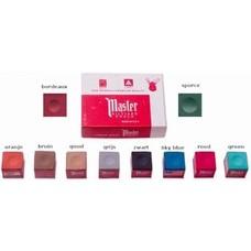 Krijt Master billiard chalk 12 pcs assorted colors.