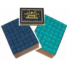 Krijt Triangel billiard chalk 144 pieces Green