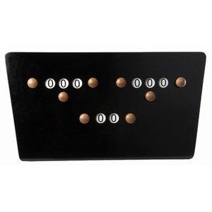 Billiards scoreboard butterfly Black