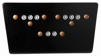 Afbeelding van Van den Broek biljarts Biljart scorebord vlinder Zwart