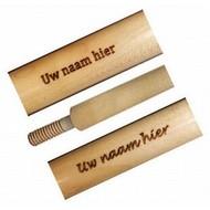 Van den Broek biljarts Graveren keu. ? 060 max. 25 karakters.