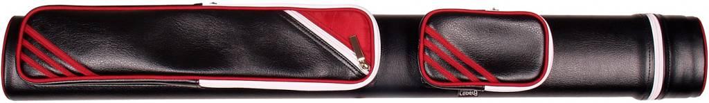 Afbeelding van LABEL9 Keukoker Label 9 Retro zwart/rood 2 om 2