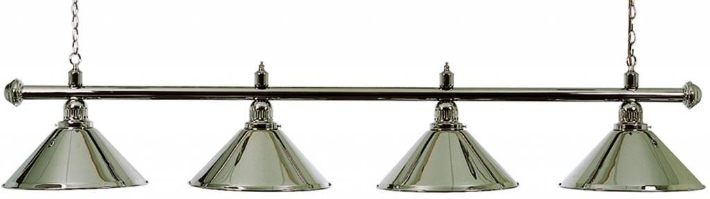 Afbeelding van Verlichting Biljartlamp pool met 4 kappen, chroom