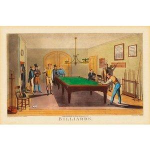 Poster Vintage - Salle de Billard