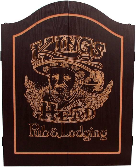 Afbeelding van INNERGAMES-D Dart kabinet Kings Head Black&Gold