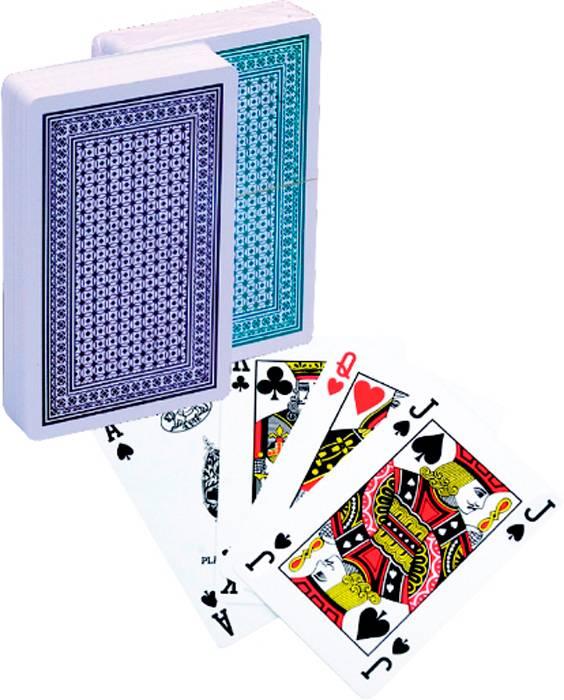 Afbeelding van LION-GAMES Poker kaarten Lion 100% plastic, Bridge