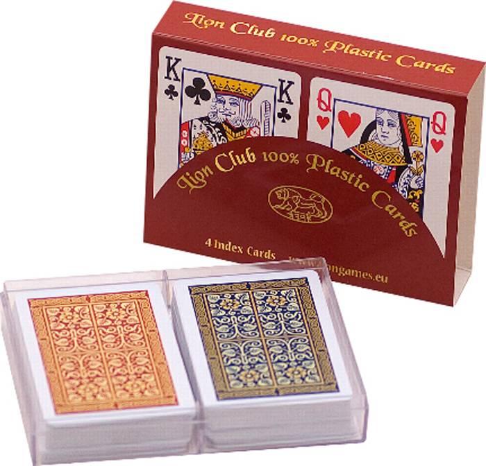 Afbeelding van LION-GAMES Poker kaarten Lion 100% plastic x2, Bridge