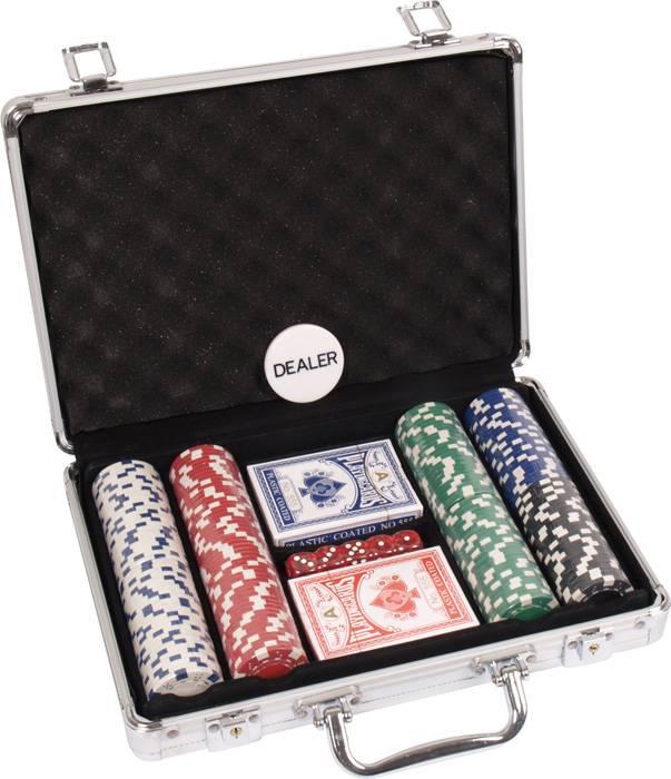 Afbeelding van overige spelen poker POKERSET ALU CASE 200 DICE RND