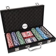 overige spelen poker Pokerset koffer kunstleer 300 chips value