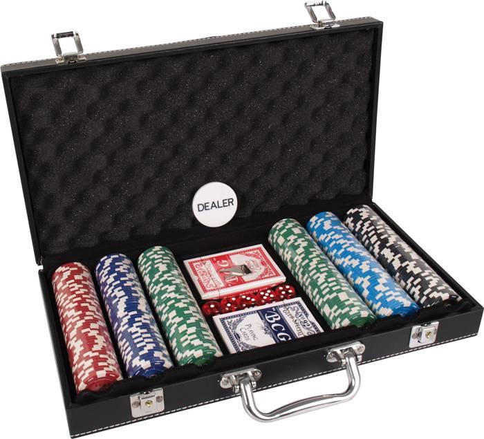 Afbeelding van overige spelen poker Pokerset koffer kunstleer 300 chips value