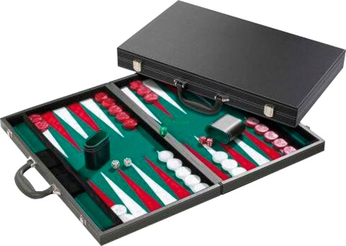 Afbeelding van Overige spelen Backgammon deluxe, ingelegd