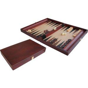 """Backgammon Wood Inl 15"""" 35x24"""