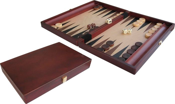 """Afbeelding van Overige spelen Backgammon Wood Inl 15"""" 35x24"""