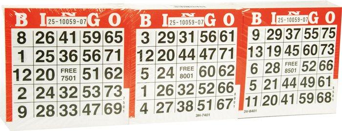 Afbeelding van overgespelen bingo Bingo Kaarten 1500 vel