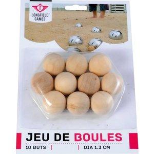 Jeu de Boules Buts Natural 10p