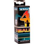 Tafeltennis Tafeltennisballen Buffalo 1* set 3 stuks