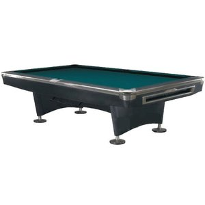 Pool billiards Competition Pro Black / RVS 9 foot