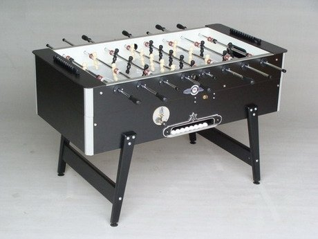 Afbeelding van Tafelvoetbaltafel Deutsche Meister voetbaltafel Grande Luxe zwart