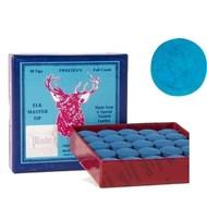 Pomeransen en doppen Billiard cue tip Elk Master. Soft