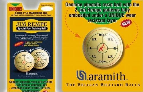 Afbeelding van Aramith poolballen Jim Rempe - pool trainingbal met instructieboek