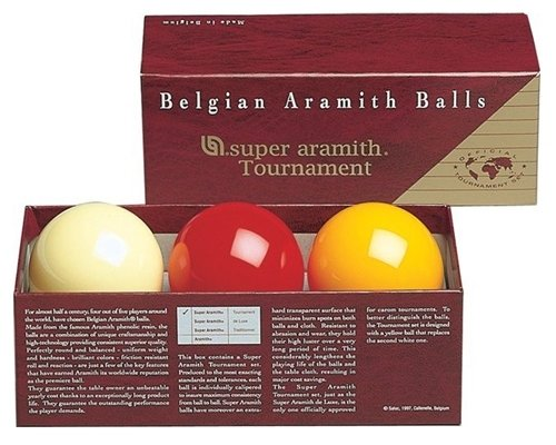 Afbeelding van Aramith carambole ballen Carambole ballen Super Aramith Tournament.