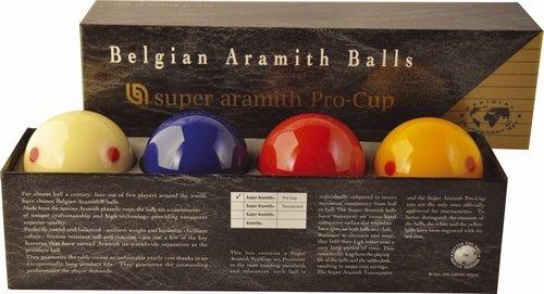 Afbeelding van Aramith carambole ballen CaramboleSuper Aramith Pro Cup. Met extra blauwe bal