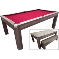Lexor Pool table TopTable Dinning, with benches set 6ft / 7ft