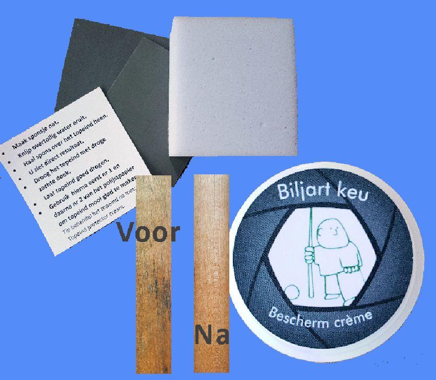 Afbeelding van Keu onderhoud Biljart keu topeind reiniger compleet