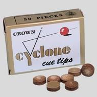 Pomeransen en doppen Billiard cue tip Cyclone. Medium