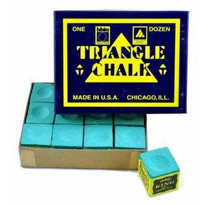 Triangle billiard chalk 12 pieces green