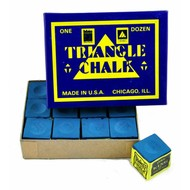 Krijt Triangle billiards chalk 12 pieces blue