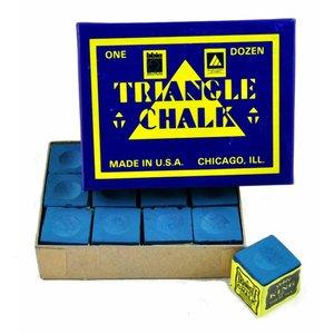 Triangle billiards chalk 12 pieces blue
