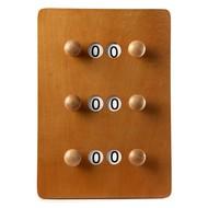 Van den Broek biljarts Scoreboard small Brown