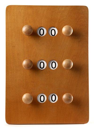 Afbeelding van Van den Broek biljarts Scorebord klein Licht bruin