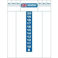WINMAU Whiteboard scoreb.Winmau 40x30